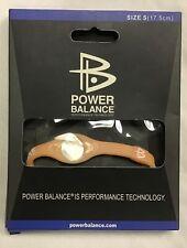 Power Balance Bracelet Wrist Size Small (17.5cm) PEACK - NEW