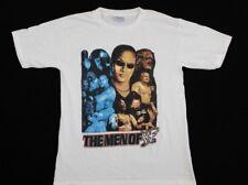 Vtg 1990s Men of WWF T-Shirt M the rock stone cold steve undertaker WWE white