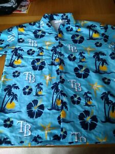 Tampa Bay Rays Hawaiian Shirt Size Large
