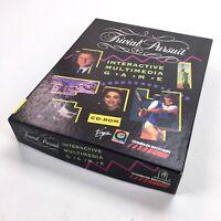 Vintage Apple Macintosh 1994 TRIVIAL PURSUIT Big Box video game CD manual