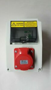 3 phase 16A, 32A, 63Amp, 5 Pin CEE, RCD Protected Socket.400V-415V distro socket