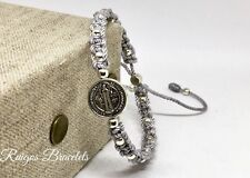 Pulsera  De La Medalla De San Benito , St Benedict Medal Bracelet For Women's