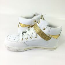 Star Wars REY White W Glittering Gold High-Top Athletic Shoes GIRLS SIZE 4 NEW