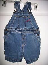 Gymboree Toddler Boy Carpenter Jean Denim Overall Shorts Size X-Small