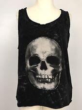 Eleven Paris Black White Skull Tank Top Sleeveless T-shirt Rocker Goth Tee