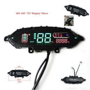 48V 60V 72V LCD Dash Display Meter/Control Panel eBike Electric Bicycle Odometer