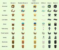 Animal Crossing New Horizons Kitchen Furniture Set +floor ...