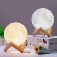 20CM 3D Printing Luna Moon Lamp USB LED Night Lights Touch Sensor Christmas Gift