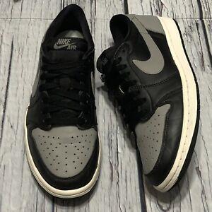 2015 Nike Air Jordan 1 Retro Low OG Shadow Grey Black Size 9.5 (705329-003)