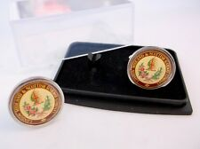 LMS LONDON MIDLAND & SCOTTISH RAILWAY BADGE MENS CUFFLINKS CUFF LINKS GIFT