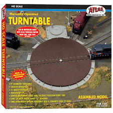 Atlas 305 Manually Operated Railroad Turntable Ready Assembled H0/00 Gauge -T48P