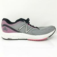 New Balance Womens 890 V6 W890KM6 Grey Pink Running Shoes Lace Up Size 10 B