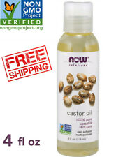 NOW Solutions 100% Pure Castor Oil for Hair & Skin Care Softener,Non-GMO 4 fl oz