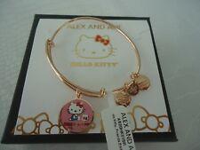 Alex and Ani HELLO KITTY FRIENDS Shiny Rose Charm Bangle New W/Tag Card & Box