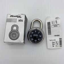 Master Lock 1525 Locker Padlock Combination Dial V35 Key Not Included