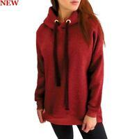 Sweatshirt Womens Long Sleeve Hoodie Pullover Jumper Ladies Top Hooded Loose