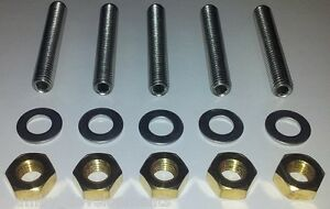 MG Rover K Series Exhaust  Stainless Studs + Brass Nuts: MGF ZR ZS ZT 25 75 200