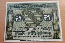 Notgeld Auerbach im Vogtland 1921, 75 Pfennig, Stadtwappen, Landvogt mit Burgfrä