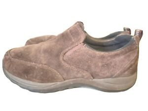 LL Bean Men's Suede Leather Dark Brown Moss Slip On Shoes  254540 Size 9