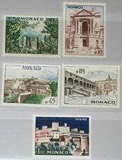 MONACO 1960 644-48 474-78 Palace of Monaco Bauwerke Architecture Buildings MNH