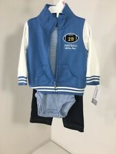 CARTER'S INFANT BOYS 3-PIECE MICRO SET (ONE PIECE,JEANS, JACKET) 9M NWT