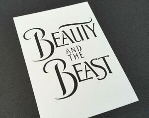 Beauty and the Beast Theme Text Stencil Cake Cookies Party Cards Home Decoration