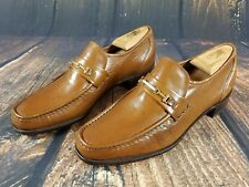 Stetson All Leather Hand Sewn Casual Loafers Driving Shoes Soft Leather Size 9 D