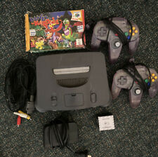 Nintendo 64 System Grey Console With Banjo Kazooie(boxed) 2 Controllers (Read)