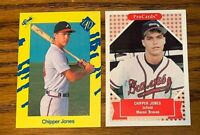 CHIPPER JONES 1990 Classic #92T and 1991 ProCards #190 - Braves