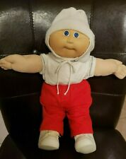"1983 Cabbage Patch Baby Boy 15"" Doll Winter Outfit Hat Diaper Shoes Clothes"