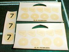 1960 several sheets Slot Car Racing Decals GP FERRARI 1/32 & 1/24 slot car