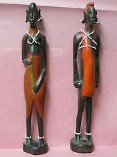 Couple D'africains en Bois  - Art  Artisanal Africain