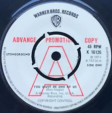 STONEGROUND - You Must Be One Of Us - 1971 Warner Bros DEMO 45 stunning NM