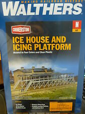 Walthers Cornerstone N #933-3245 Ice House and Icing Platform (kit Form)