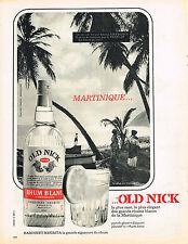 PUBLICITE ADVERTISING  1964   OLD NICK  rhum