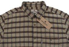 Men's WOOLRICH Tonal Brown Gray Plaid Shirt XL Extra Large NWT NEW Nice!