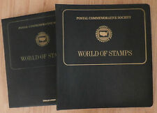 POSTAL COMMEMORATIVE SOCIETY, WORLD OF STAMPS, 2 VOL. 34 COMPLETE PAGES