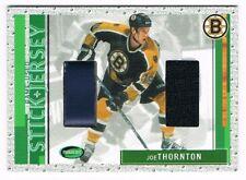 2002-03 Parkhurst Game-Used Stick and Jersey #SJ-40 Joe Thornton !!