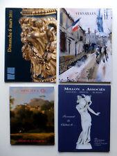 4 catalogues de ventes, meubles, sculptures, tableaux...17ème au 20ème siècle