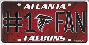 Atlanta Falcons  #1 Fan Metal Sign License Plate Tag Man Cave NFL