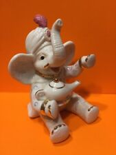 "LENOX ""WISHING FOR PEANUTS""  ELEPHANT FIGURINE Ivory China Gold Genie Lamp"