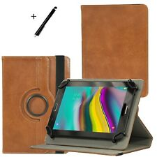 Funda protectora para tablet cuero auténtico alcatel 1t 10 - 10.1 pulgadas 360 ° de cuero marrón