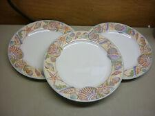 Fitz & Floyd Caribbean Set of 3 Dinner Plate Beach House Shell Decor 6 Available