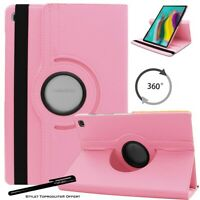 Housse Etui Rose pour Samsung Galaxy Tab S5e T720 T725 Support Rotatif 360°