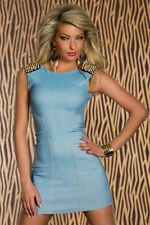 Womens Party/Cocktail/Ball with Shoulder Embellishment  Light Blue Dress