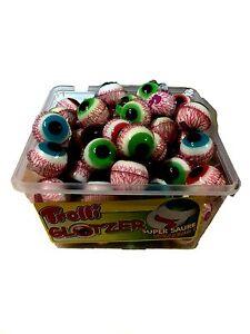 Trolli Glotzer 60 Stück Gummibonbon mit saurer Füllung Halloween Party Spaß