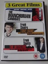 FRANK SINATRA COLLECTION - THE MANCHURIAN TONY ROME THE DETECTIVE 3 FILM DVD SET