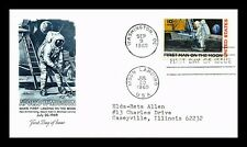 US COVER APOLLO 11 MISSION FIRST MAN ON MOON SPACE FDC ARTMASTER CACHET