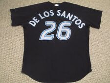 De Los Santos #30 sz 50 2007 Toronto Blue Jays Game used jersey Alt Black