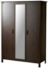 armoire Garde-robe 3 portes BRUSALI ikea brun noir penderie bon état